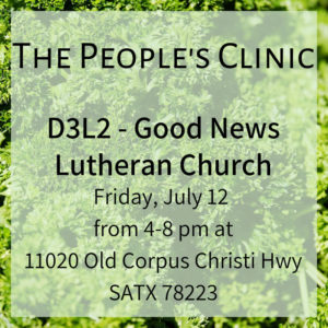 The People's Clinic 12 July 2019 @ Good News Lutheran Church