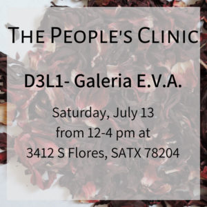 The People's Clinic 13 July 2019 @ Galeria E.V.A.